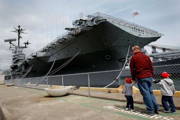 Memorial Day is celebrated aboard the USS Hornet in Alameda on Monday. The Hornet serves as a floating museum.