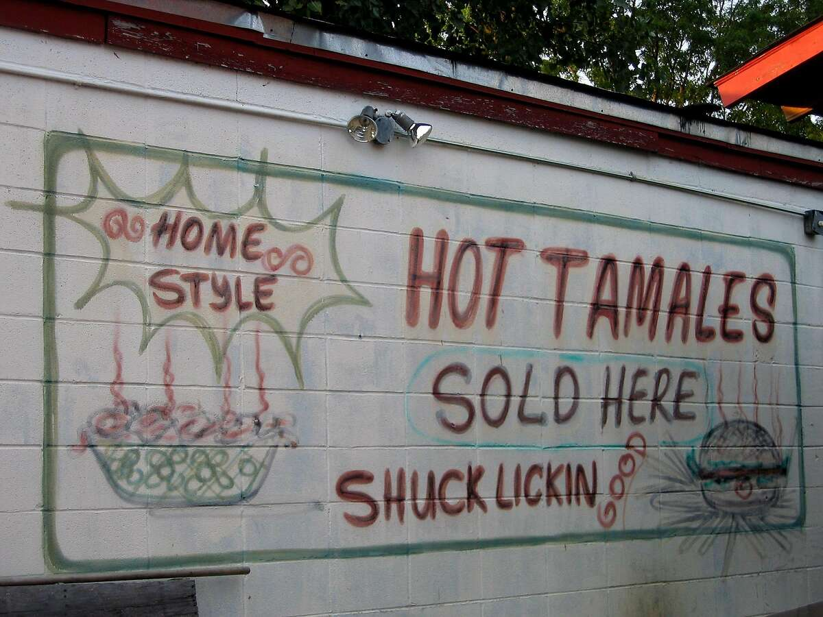 Delta tamales. A sign on the side of Delta Fast Foods on U.S. 61 in Cleveland, Miss., promises tamales that are