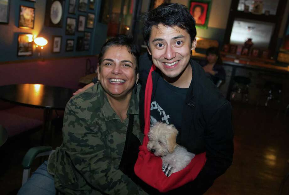 Roberta Hassle and Jay Flores brought a pup to The Dakota. Photo: Xelina Flores /Contributor