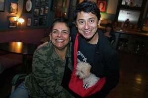 Roberta Hassle and Jay Flores brought a pup to The Dakota.