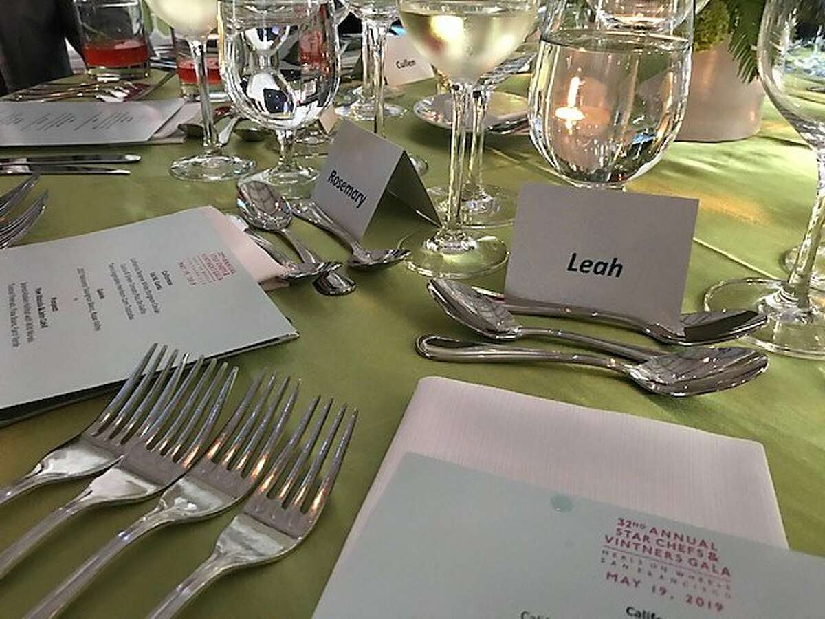 Table setting at Meals on Wheels benefit