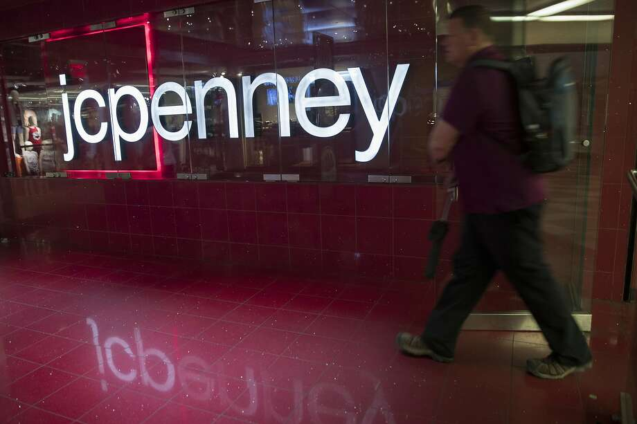 FILE - In this May 16, 2018 file photo, a man enters the JC Penney store at the Manhattan mall in New York. J.C. J.C. Penney Co. (JCP) on Tuesday, May 21, 2019. reported a loss of $154 million in its fiscal first quarter. The Plano, Texas-based company said it had a loss of 48 cents per share. Losses, adjusted for one-time gains and costs, came to 46 cents per share. The results missed Wall Street expectations. (AP Photo/Mary Altaffer, File) Photo: Mary Altaffer, Associated Press