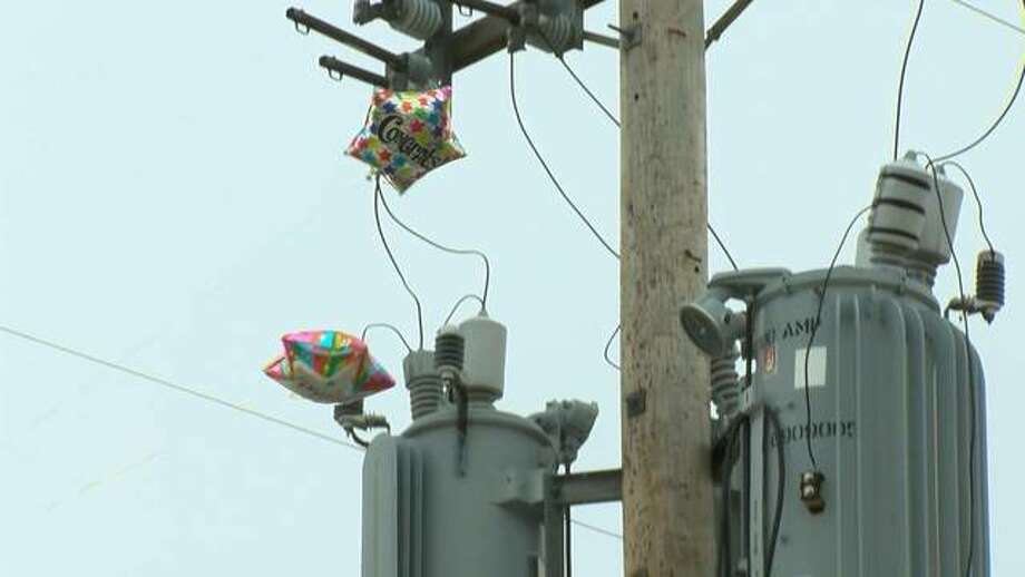 Mylar balloons pose a series of threats to power lines, Ameren Illinois encourages people using them during celebrations to keep them tethered and use caution to prevent the balloons from landing in power lines. Photo: For The Intelligencer