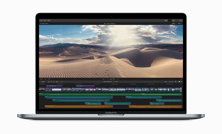 Apple's 2019 MacBook Pro models include faster processors and a change to the design of its keyboards to prevent sticking or ignored keystrokes. Photo: Apple Inc.