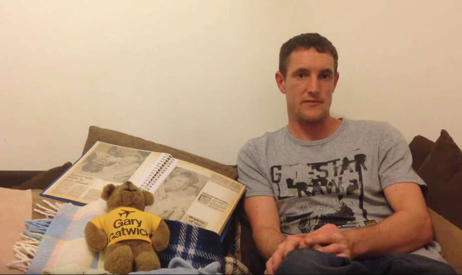 "In 2015, Steve Hydes, known as ""Gary Gatwick"" after being abandoned as a baby, issued a plea for information about his birthparents. Photo: YouTube"