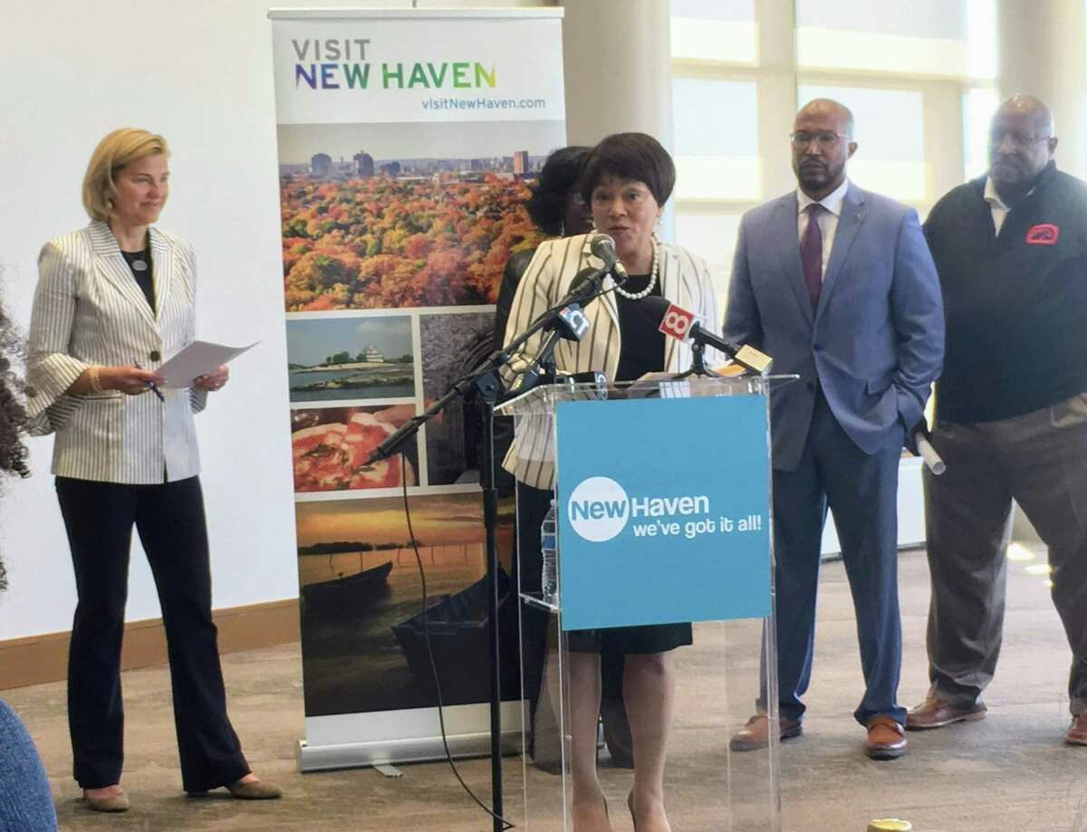 Mayor Toni N. Harp at the summer events presentation at Canal Dock Boathouse Tuesday.