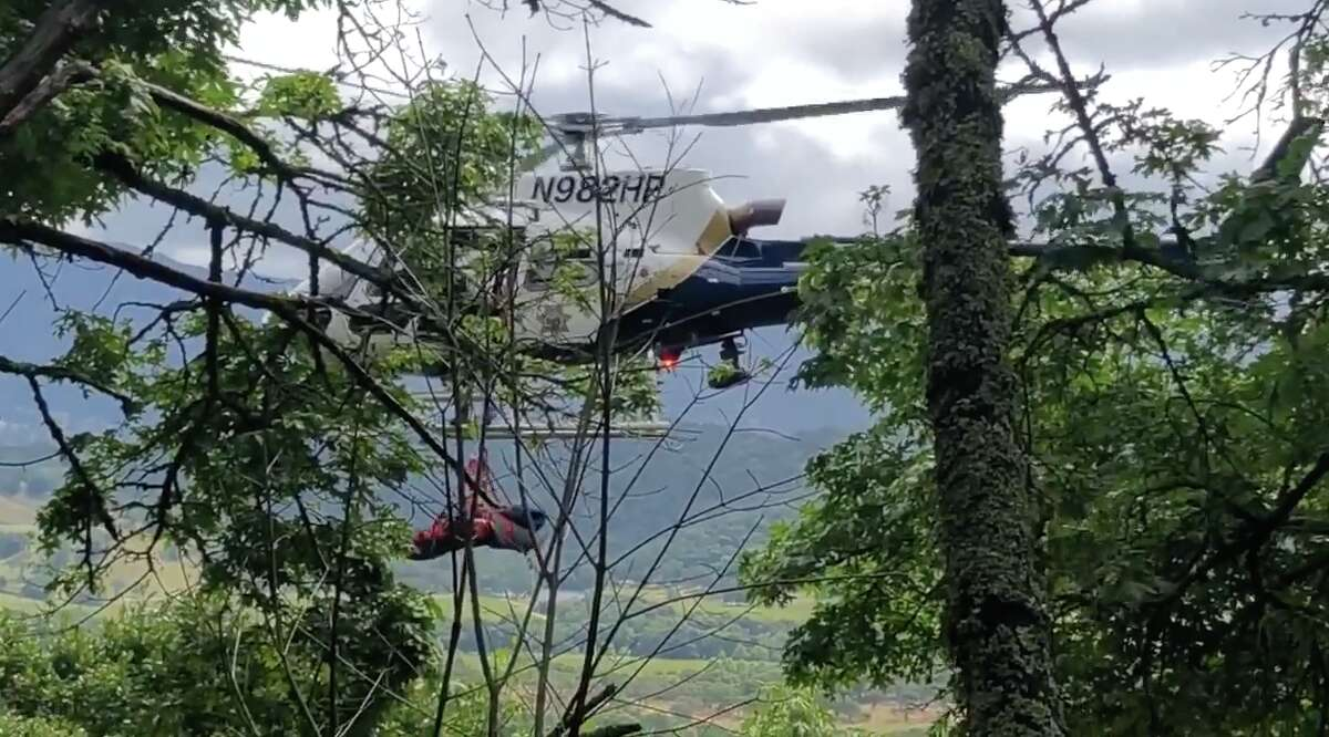 The California Highway Patrol conducted a hoist rescue after a woman's car flew 450 feet off a cliff in Napa County on Tuesday, May 21, 2019. Click through the gallery to see the types of cars involved in the most accidents in the Bay Area.