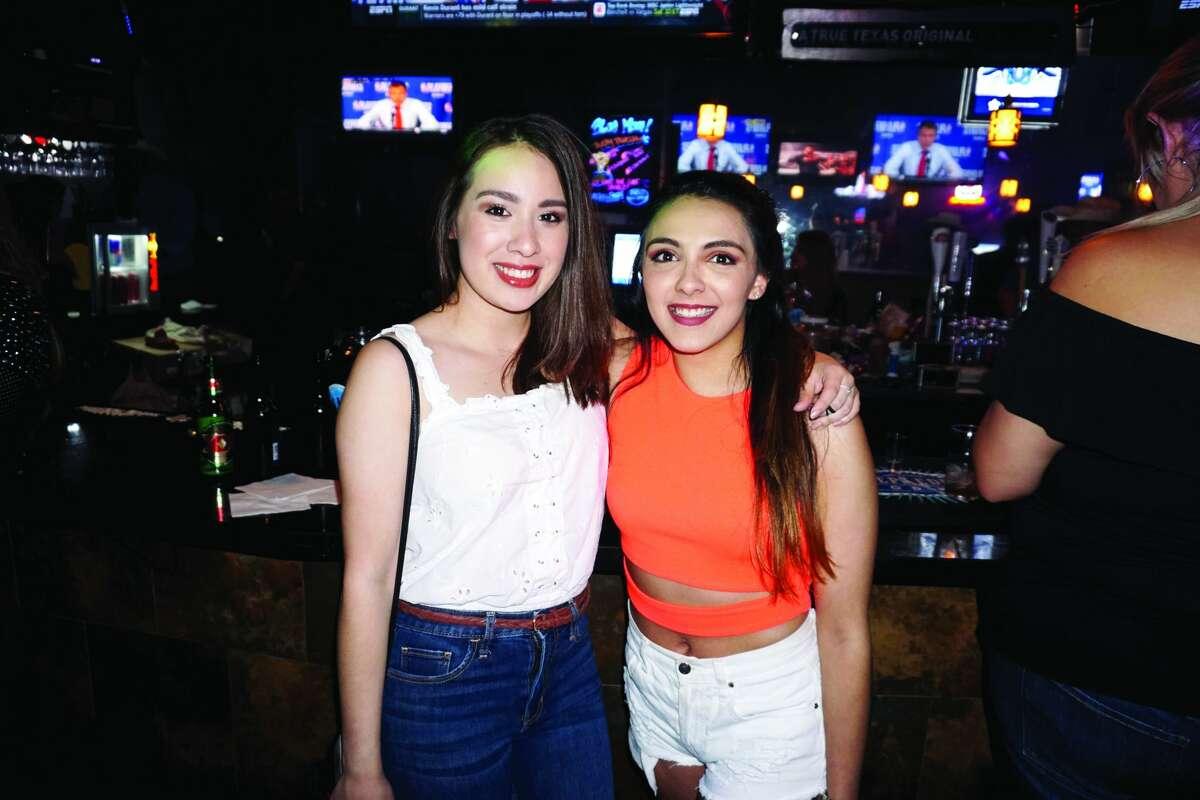 Ksey Moreno and Jennifer Campos at Blue Moon Country Bar & Patio