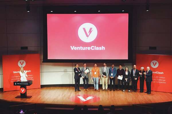 The 2017 winners of VentureClash, following the competition held Oct. 20, 2017, at Yale University.
