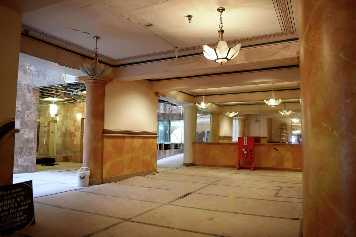 Lobby of the former Kenmore Hotel on Tuesday, May 21, 2019, in Albany, N.Y. Redburn Development Partners are converting property, named The Nick, into a mixed use apartment space. (Will Waldron/Times Union)