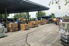 Madison County Planning and Development collaborated with the City of Collinsville, CJD-Ecycling, an Edwardsville recycling company, and Dynamic Lifecycle Innovations, the state's contracted recycling firm, to host an electronic waste recycling event on Saturday, May 18 in Collinsville. The event served more than 300 families and filled four semi-trucks with e-waste.