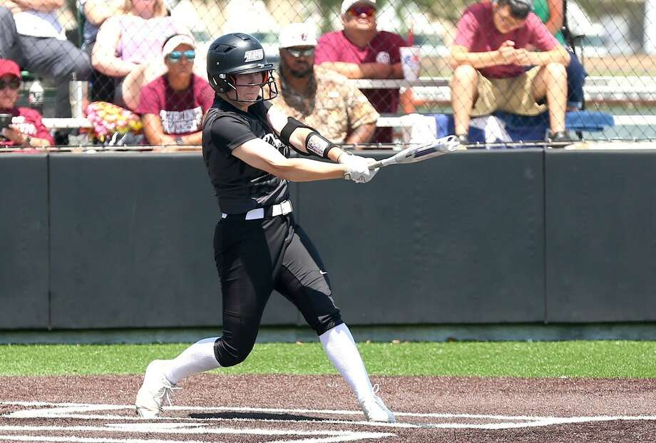 Texas Lutheran University senior Kassie Maddox is shown here batting in an earlier game for the Bulldogs. Photo courtesy of TLU Athletics Photo: TLU Athletics