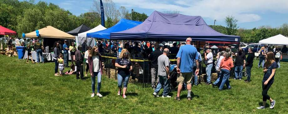 Spectrum/ Young's Field in New Milford was abuzz with activity last weekend for the first Greatest of All Towns (GOAT) Days event. Goatboy Soaps spearheaded the May 18-19, 2019 event that featured food, farm animals such as baby goats, bunnies and other animals from local farms, pony rides, crafts and more. Photo: Deborah Rose / Hearst Connecticut Media / The News-Times  / Spectrum