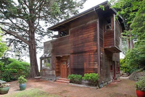 The 1979 home is built from redwood sourced in Marin.