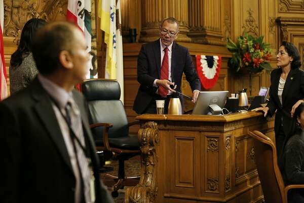 District 7 supervisor Norman Yee is voted as the new president of the Board of Supervisors at City Hall on Tuesday, Jan. 8, 2019, in San Francisco, Calif.