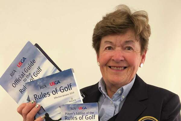 Wendy Dominick, district chair of the Rules and Competitions Committee for the Metropolitan Golf Association, gave a presentation to the Northeastern Women's Golf Association on the new USGA golf rules. (Joyce Bassett / Times Union)