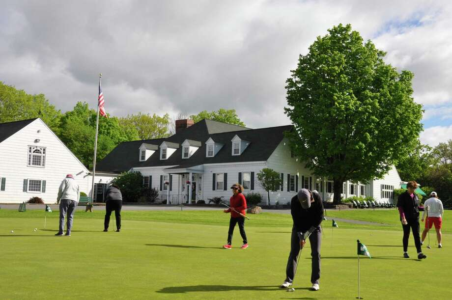 NEWGA members returned to the Country Club of Troy Tuesday May 21, 2019, to kick off the season with a four-play scramble that attracted 80 players. (Joyce Bassett / Times Union) Photo: Joyce Bassett