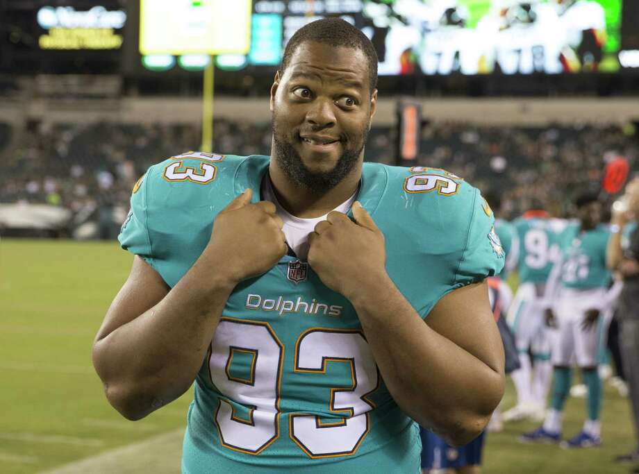 PHILADELPHIA, PA - AUGUST 24: Ndamukong Suh #93 of the Miami Dolphins looks on in the fourth quarter against the Philadelphia Eagles in the preseason game at Lincoln Financial Field on August 24, 2017 in Philadelphia, Pennsylvania. The Eagles defeated the Dolphins 38-31. (Photo by Mitchell Leff/Getty Images) ORG XMIT: 700069858 Photo: Mitchell Leff / 2017 Getty Images