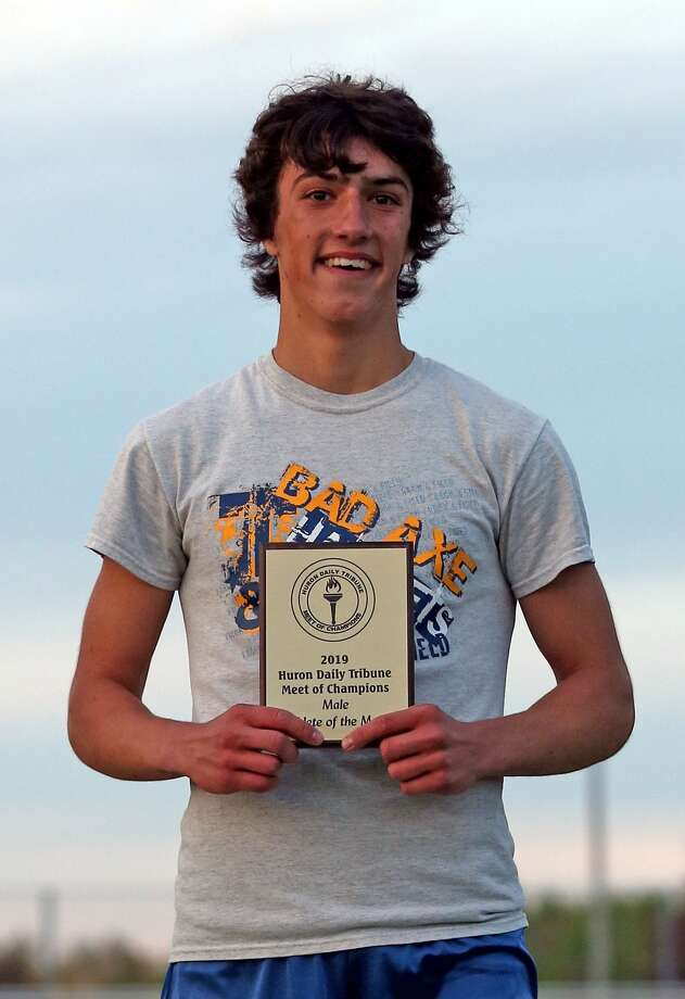 Huron Daily Tribune Meet of Champs Male Athlete of the Meet, David Knarian, Bad Axe. Photo: Paul P. Adams/Huron Daily Tribune
