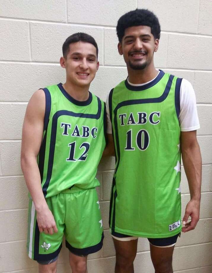 United's Andy Pompa and Martin's Mathew Duron closed out their high school careers together Friday in the TABC All-Star game in San Antonio. It was the first time Laredo had multiple representatives in the same season. Photo: Courtesy Photo