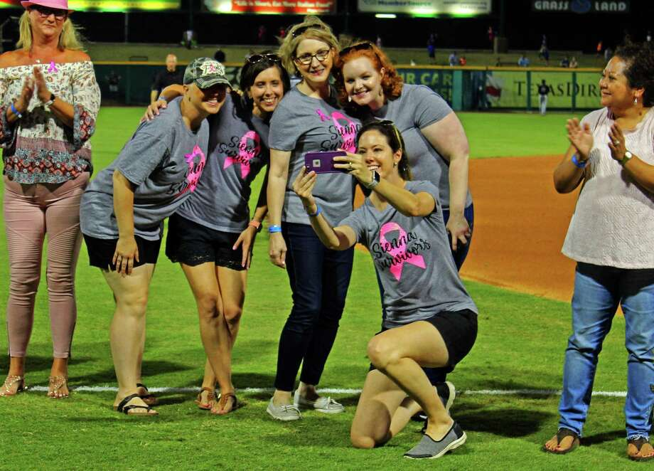 "A group of breast cancer survivors were honored at the Memorial Hermann Sugar Land Hospital's Seventh Annual ""Pink in the Park"" Skeeters game night on Friday, May 17."