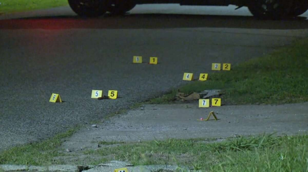 Police investigate a shooting Tuesday, May 21, between a homeowner and a group of teenagers who targeted his home with paintball guns, police said. A 19-year-old was killed in the incident.