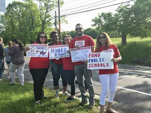 Danbury teachers protest lack of school funding - NewsTimes