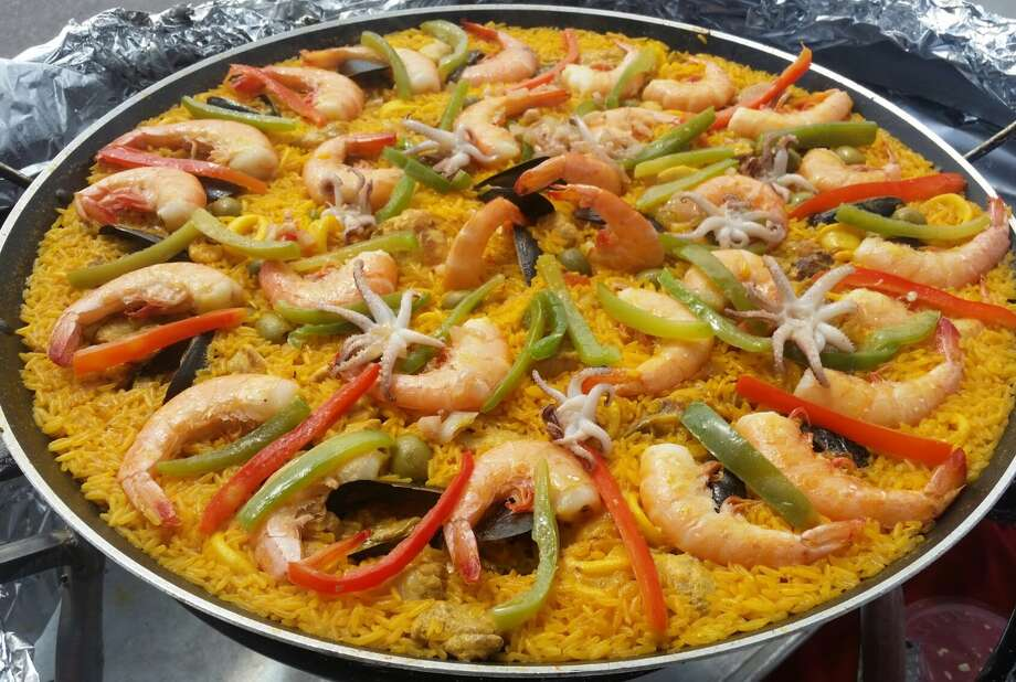 Starting June 2, Paella Sunday will take over the patio at The Koffee Kup Co., at 1025 Donaldson Ave., with pounds of the Spanish dish for sale and cooking classes, according to event details posted online. Photo: Courtesy, Cocina Heritage