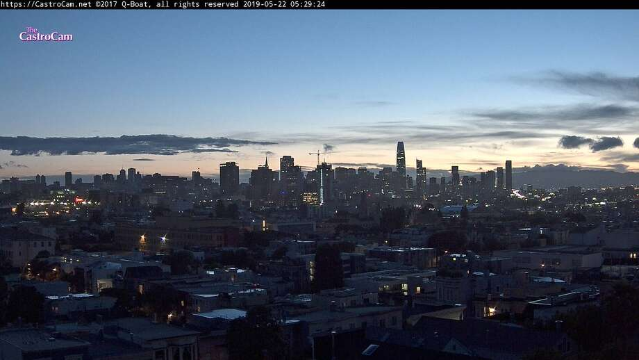 After a soggy week, San Francisco finally was clear and sunny Wednesday morning, May 22, 2019. Photo: Castro Cam