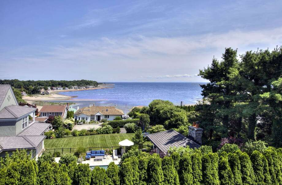 A view of Long Island Sound from a home on Sterling Drive in Westport. Photo: Contributed Photo / Connecticut Post Contributed