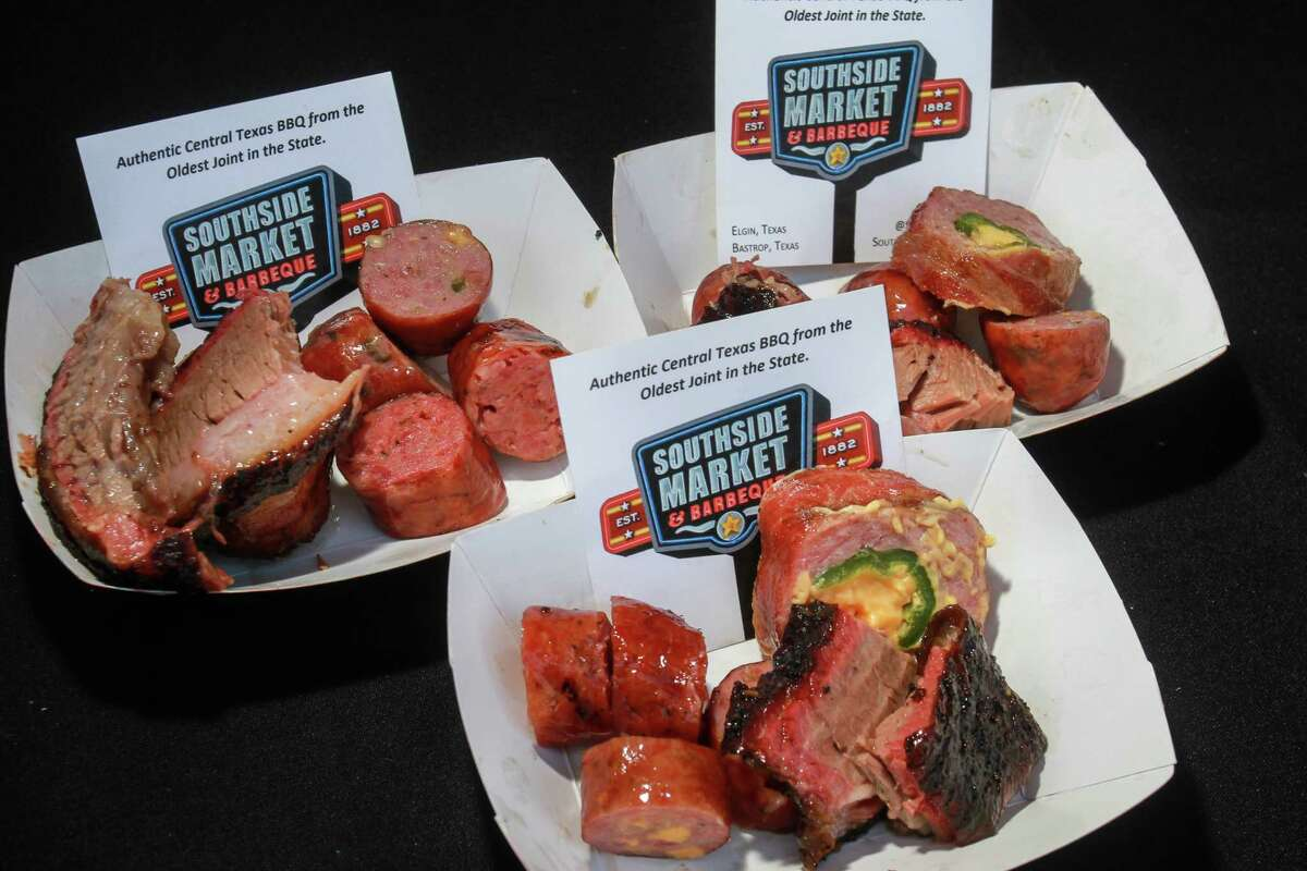 An assortment of meats from Southside Market Barbeque at the 2019 Houston Barbecue Festival in Humble.