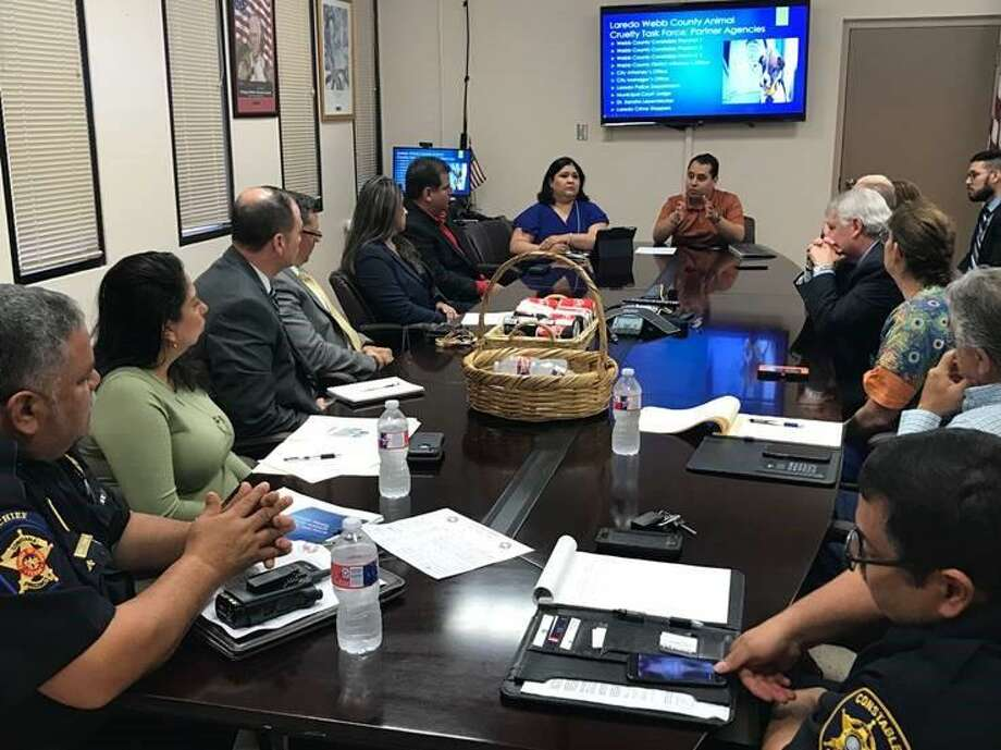 Various local entities meet at Laredo City Hall on Tuesday to discuss a proposed city-wide Anti-Animal Cruelty Partner Council. Photo: Courtesy Photo