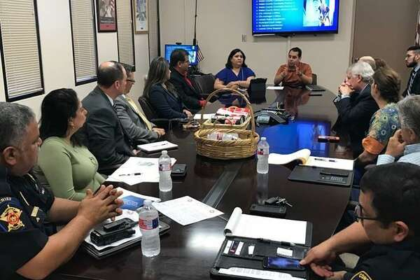 Various local entities meet at Laredo City Hall on Tuesday to discuss a proposed city-wide Anti-Animal Cruelty Partner Council.