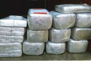 Texas Department of Public troopers seized about 280 pounds of marijuana following a traffic violation Saturday on U.S. 59 in Webb County.