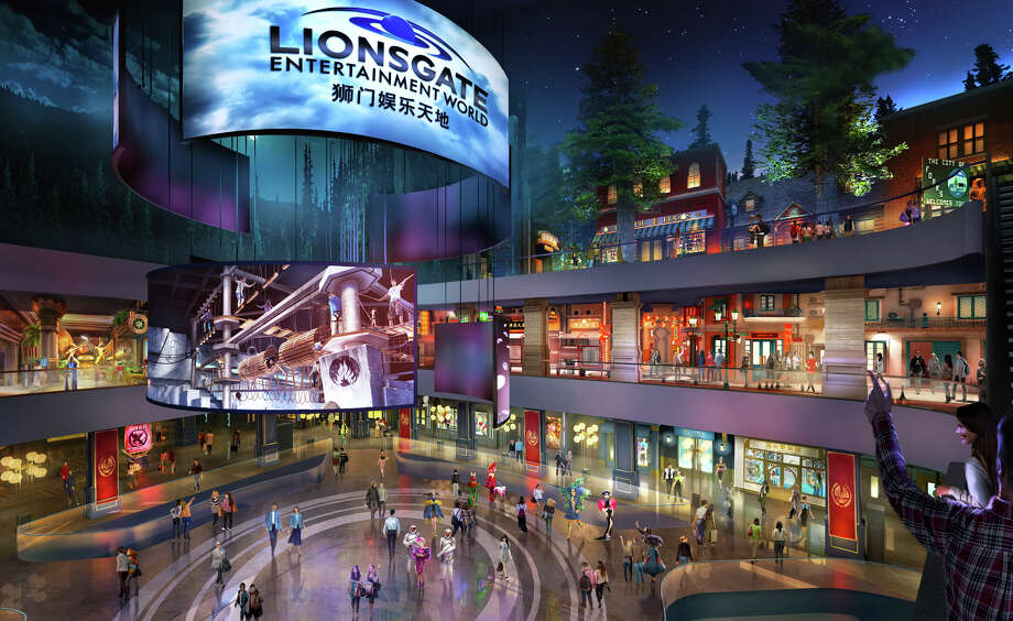 "This rendering released by Lionsgate shows the atrium of Lionsgate Entertainment World, a virtual reality-heavy theme park set to open in July on Hengqin island in Zhuhai, China. The park will feature rides, shops and attractions set in the worlds of popular Lionsgate films including ""The Hunger Games,"" ""Twilight"" and ""Escape Room."" Photo: Lionsgate Via AP"