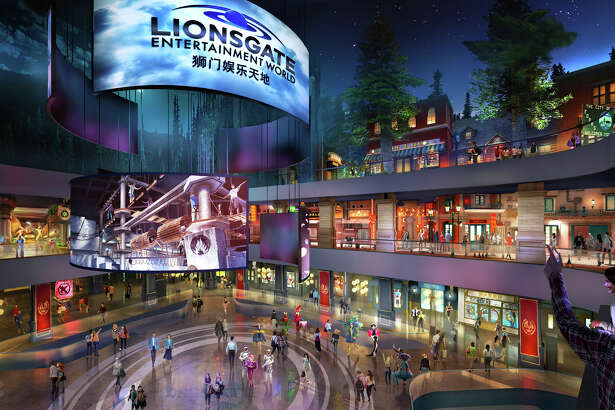 "This rendering released by Lionsgate shows the atrium of Lionsgate Entertainment World, a virtual reality-heavy theme park set to open in July on Hengqin island in Zhuhai, China. The park will feature rides, shops and attractions set in the worlds of popular Lionsgate films including ""The Hunger Games,"" ""Twilight"" and ""Escape Room."""