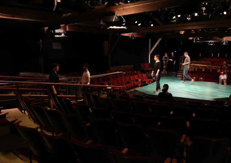 Actors rehearse for the upcoming production of