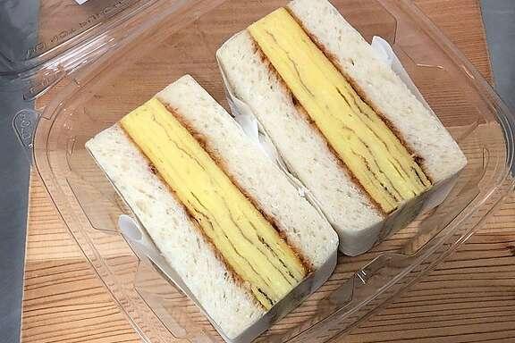 The original tamago sandwich at Ichi Sando in Japan Center.