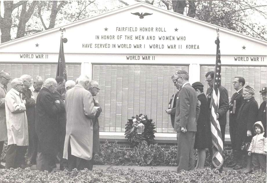 Fairfielders observe Memorial Day in 1971. Photo: Photo Courtesy Of Fairfield Museum