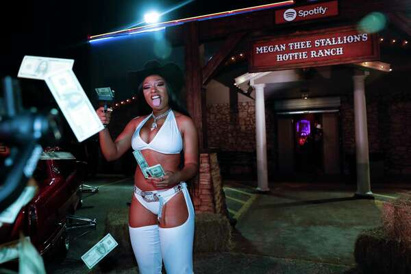 HOUSTON, TEXAS - MAY 16: Spotify Celebrates Megan Thee Stallion's new album on May 16, 2019 in Houston, Texas.