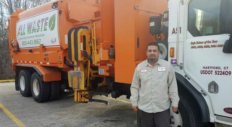 Alvaro Mora, a CDL Driver for All Waste, Inc., received the 2019 National Waste & Recycling Association Driver of the Year award in Las Vegas May 7. Photo: Contributed Photo