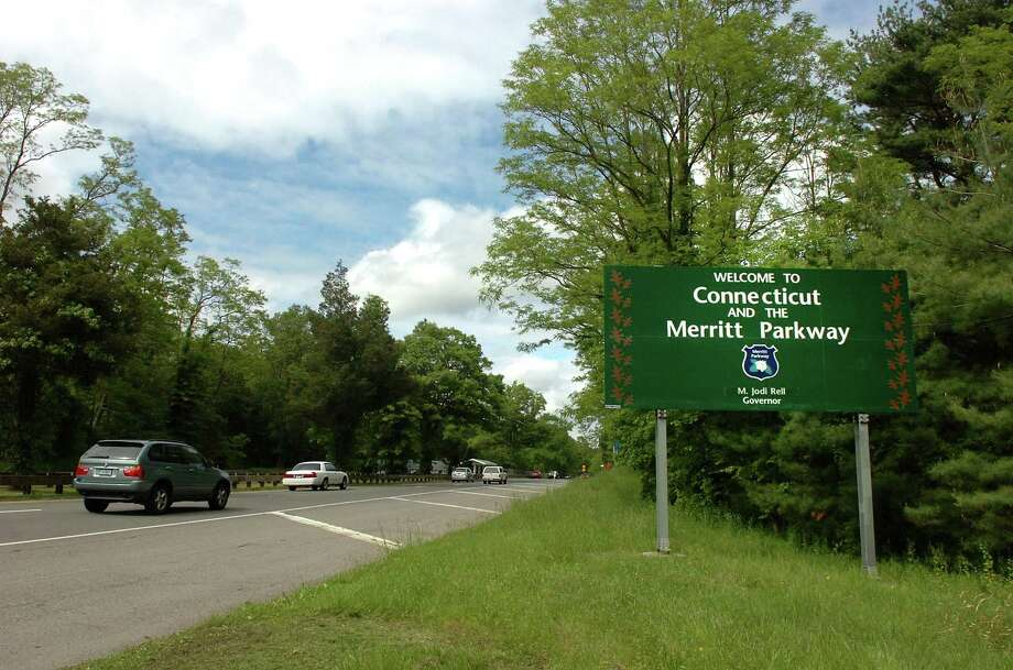State police recovered a stolen car on the Merritt Parkway in Greenwich last week after the vehicle ran out of gas. Photo: File Photo / Stamford Advocate