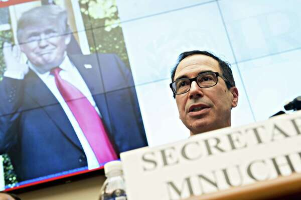 Treasury Secretary Steven Mnuchin speaks during a House Financial Services Committee hearing in Washington on Wednesday, May 22, 2019.