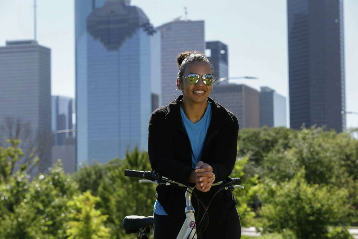 Lauren Luna took up cycling when she moved to Houston.