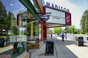 A view of the Madison Theater, with the Tierra Farm store seen next door to the theater, on Wednesday, May 22, 2019, in Albany, N.Y.  (Paul Buckowski/Times Union)