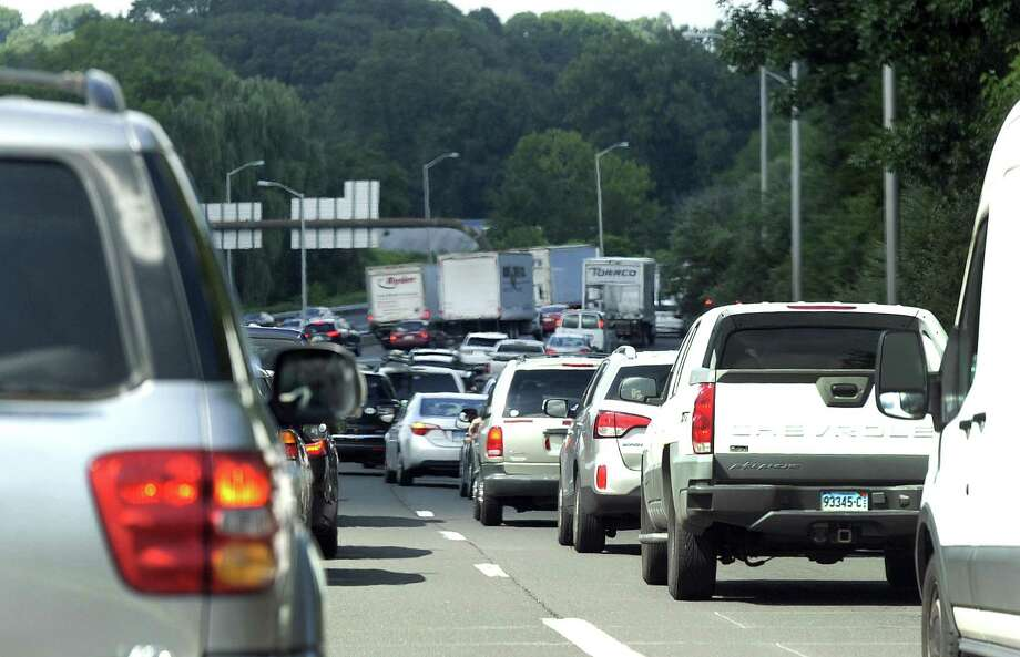 This scene on I-84 westbound in Danbury is from last August, but it's a typical stop-and-go frustration most days. Photo: Carol Kaliff / Hearst Connecticut Media / The News-Times