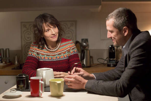 "Juliette Binoche, left, and Guillaume Canet star in ""Non-Fiction."""
