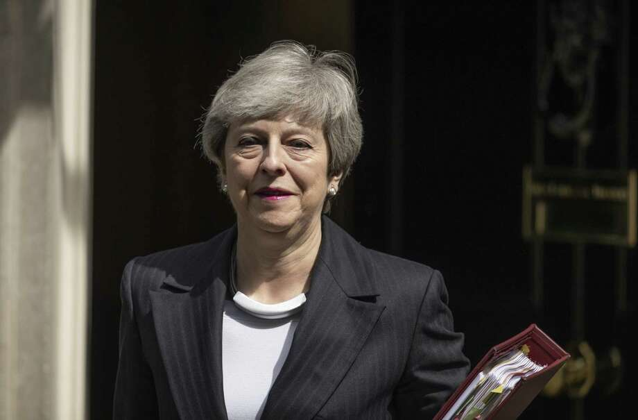 LONDON, ENGLAND - MAY 22: British Prime Minister Theresa May leaves 10 Downing Street to attend the weekly Prime Ministers Questions at the House of Commons on May 22, 2019 in London, England. Mrs May is under increased pressure as she continues to try and get her Brexit withdrawal agreement through. (Photo by Dan Kitwood/Getty Images) Photo: Dan Kitwood / 2019 Getty Images