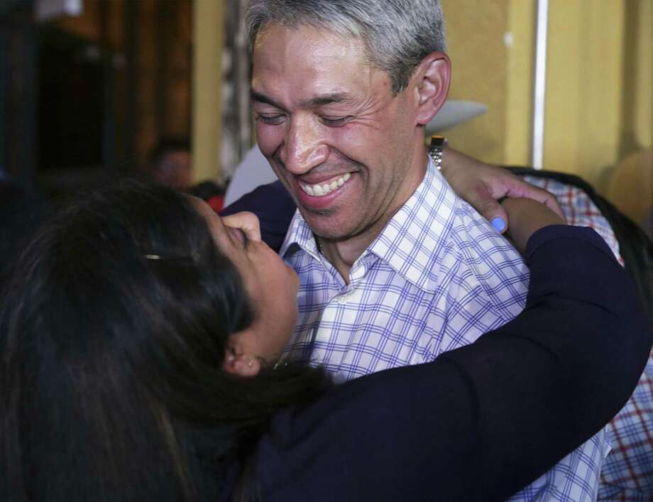 Mayor Ron Nirenberg, show with wife Erika on election night, simply has better ideas and policy positions than his runoff opponent. Photo: Tom Reel /Staff Photographer / 2019 SAN ANTONIO EXPRESS-NEWS