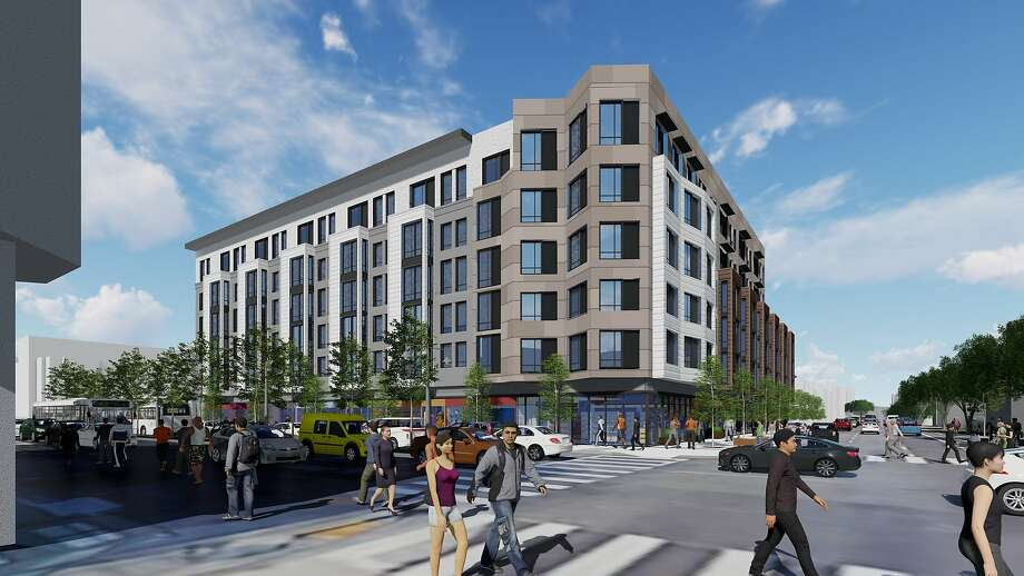 A rendering of the housing development to be built at 400 Divisadero. The San Francisco Planning Commission approved the project Thursday. Photo: Courtesy Berg Davis Public Affairs